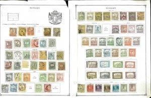 Hungary 1871-1961 M, U & CTO Hinged on Scott International Pages
