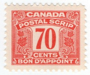 (I.B) Canada Revenue : Postal Note 70c