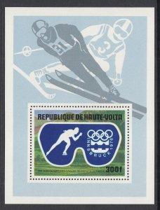 Burkina Faso C227 Winter Olympics Souvenir Sheet MNH VF