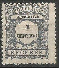ANGOLA, 1921, MH 1c POSTAGE DUE Scott J22