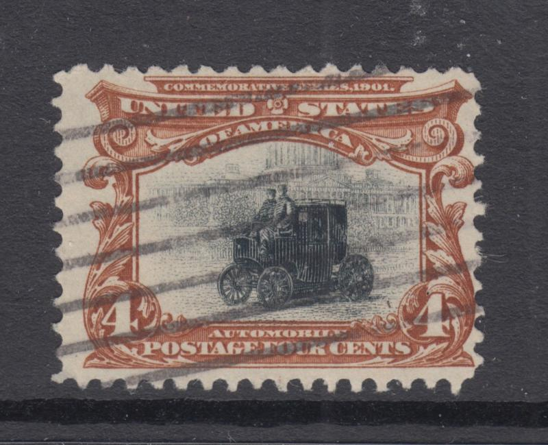 US Sc 296 used 1901 4c Pan-American Expo, F-VF