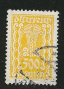 Austria Scott 277 Used stamp from 1922-24 set
