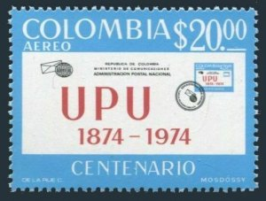 Colombia C598,MNH.Michel 1271. UPU-100,1974.Letter.
