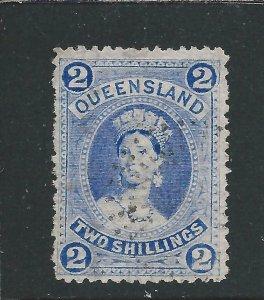 QUEENSLAND 1882-95 2s BRIGHT BLUE GU SG 152 CAT £65