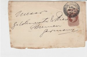 victorian 1898 glasgow cancel stamped postal wrapper ref 21336