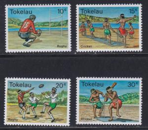 Tokelau # 69-72,  Rugby & Cricket, NH, 1/2 Cat.
