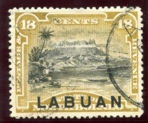 Labuan 1894 QV 18c olive-bistre (p13½-14) very fine used. SG 72a.