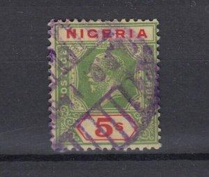 Nigeria KGV 1926 5/- Die II SG28 Fine Used JK5609
