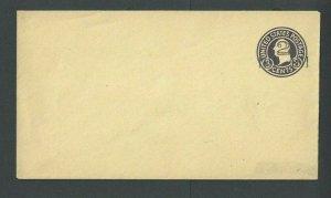 Ca 1917 U459 2c Dark Violet On Amber W/Type 3 Ovpt Mint Entire Size 10 Die 143