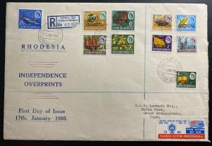 1966 Salisbury Southern Rhodesia First Day Cover FDC Independence Signing