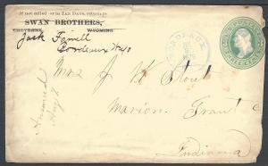Scott U164, Bordeaux Wyo, Wyoming-Territorial-Postal History