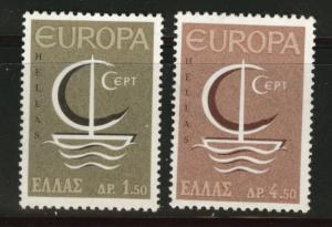 GREECE Scott 862-863 MH*  Europa 1966  stamp set
