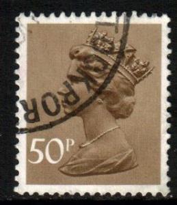 GB 1971 Machin 50p Ochre, used