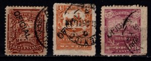 Mexico 1894 Definitives hand-stamped'OFICIAL', Part Set [Used]
