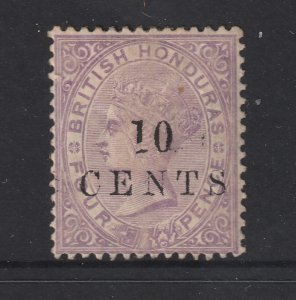 British Honduras a MH QV 10c on 4cents from 1888