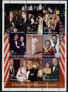 Guinea 1998 FRANK SINATRA & FRIENDS Sheet Perforated Mint (NH) Scarce