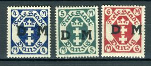 1922. DANZIG SERVICE STAMP DIENSTMARKEN ERROR WIDOUTH ROSETE BACKGROUND