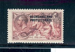 Bechuanaland Prot. 93a, Overprinted Carmine Single,**VLH**