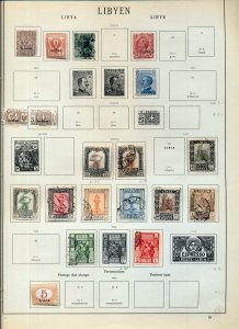 LIBYA 1912/36 M&U On Old Pages Incl.Airs Ovpts(Apx 45)NS 52