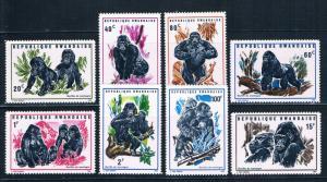 Rwanda 359-66 MNH set Mountain Gorillas 1970 (R0574)+