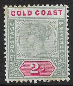 GOLD COAST SG32 1898 2/= GREEN & CARMINE MTD MINT