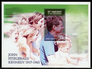 ST, VINCENT GREN. JOHN FITZGERALD  KENNEDY 1917-1963 S/S II  MINT NEVER  HINGED