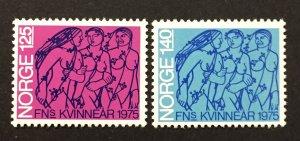Norway 1975  #649-50, IWY, Unused/MH.