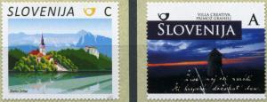 Slovenia. 2017. Sights of Slovenia (MNH OG) Set of 2 stamps