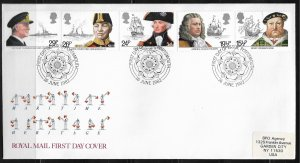 1982 Great Britain 991-5 complete set of 5  FDC