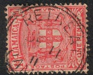 JAMAICA 1911 1d - RETREAT cds..............................................17158
