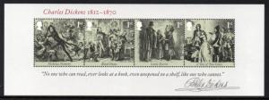 Great Britain Sc 3043 2012 Charles Dickens stamp sheet mint NH