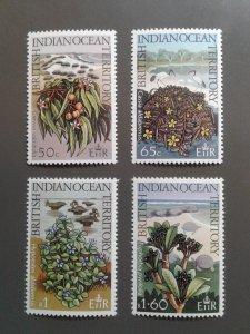 British Indian Ocean Territory 78-81 VF MNH.  Scott $ 3.30