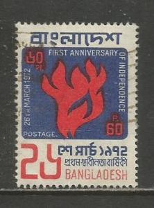 Bangladesh    #34  Used  (1972)  c.v. $0.45