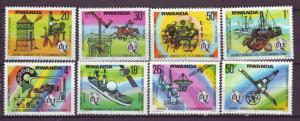 J21006 Jlstamps 1977 rwanda set mnh #809-16 designs uit
