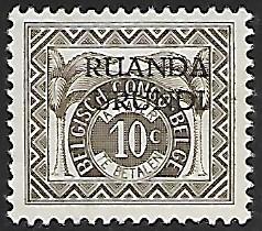 Ruanda Urundi # J13 - Numeral 10ct - MH