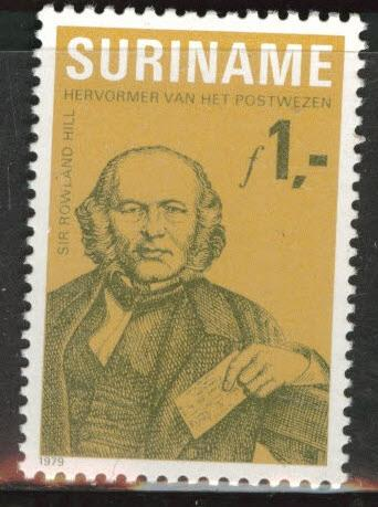 Suriname Scott 538 mnh** 1979 Rowland Hill stamp