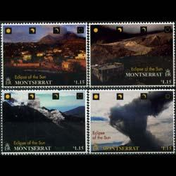 MONTSERRAT 1998 - Scott# 957-60 Eclipse Set of 4 NH