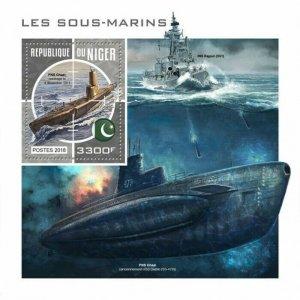 HERRICKSTAMP NEW ISSUES NIGER Submarines S/S
