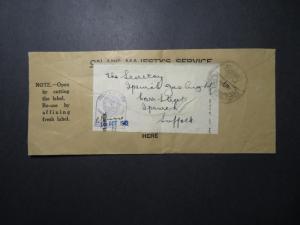 Great Britain 1942 OHMS Cover / Label / Navel Censor / Fold - Z12271