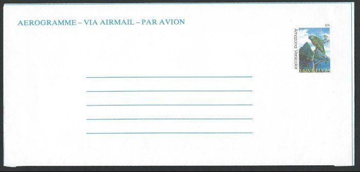 ST LUCIA 60c Bird aerogramme fine unused...................................10921