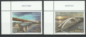 Serbia 2018 CEPT Europa 2 MNH stamps