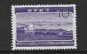 JAPAN 707 MNH OPENING OF OBSERVATORY