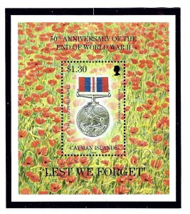 Cayman Is 708 MNH 1995 End of WWII Anniversary S/S
