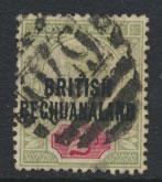Bechuanaland  SG 34 Used note cancel 670