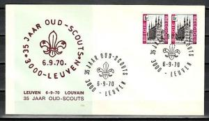 Belgium, 06/SEP/70 issue. 35th Scout Anniversary cancel on Cachet cover