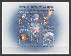 K0930 2000 MADAGASCAR SPACE EXPLORATION TRAVEL TO THE STARS KB MNH