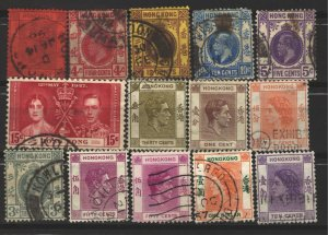 COLLECTION LOT # 3400 HONG KONG 14 STAMPS 1891+ CLEARANCE CV+$18