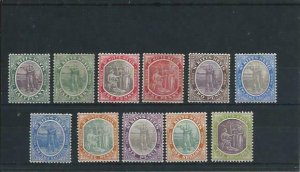 ST KITTS-NEVIS 1905-18 SET OF ELEVEN MM (2½d VALUE IS CA) SG 11/21 CAT ~£110
