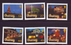 Guernsey Sc 750-5  2001 Christmas stamp set NH