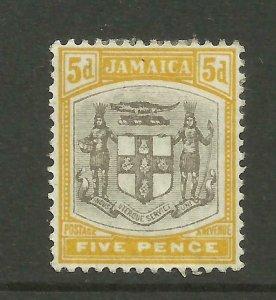 JAMAICA 1903/4 Sg 36, 5d Grey & Yellow, Mounted Mint. {B9-67}
